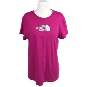 The North Face XL T Shirt Short Sleeve Logo Pink